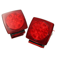 2pcs DC12 24V LED Truck Trailer Boat Brake License Lights Auto Car LED Stop Turn Tail