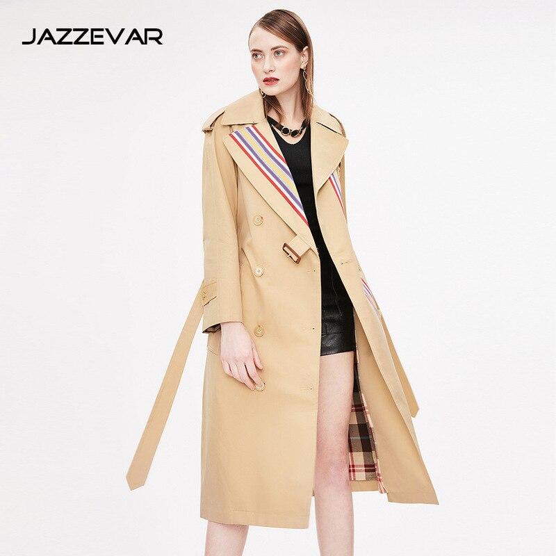 2019 Taille Arc coat Long vent Piste Cascade Manteaux Femelle Coupe Dames beige Printemps Breasted Poussière Femmes Double en Grande Trench 8v4Txwfqw