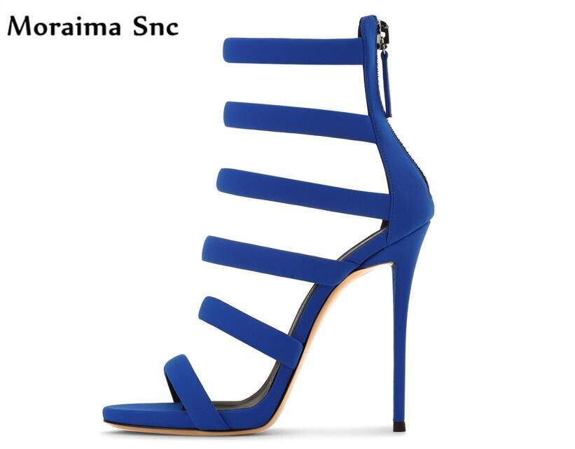 Moraima Snc summer fashion women sandals platform peep toe sexy thin high heels women shoes narrow band side zipper party shoes все цены