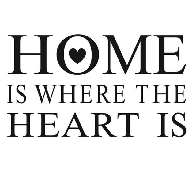 home is where the heart is vinyl removable sentence wall sticker