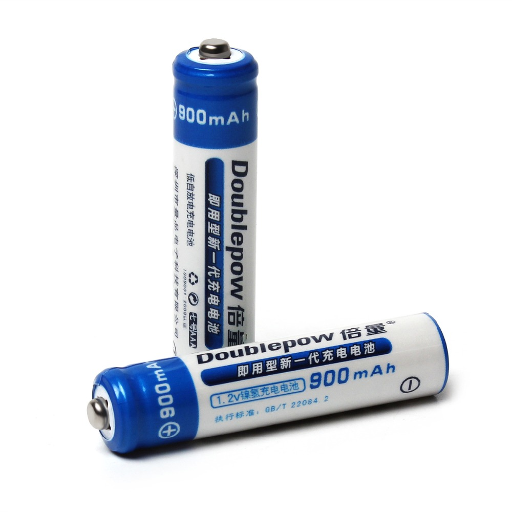 2019 New Style Doublepow 2pcs Aaa 1.2v 900mah Ni-mh Lsd Rechargeable Battery With 1200 Cycle