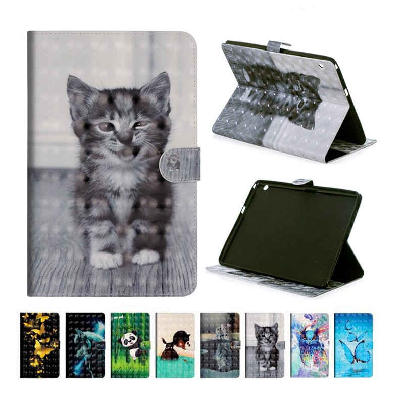 3d Printing Pu Leather Case Voor Samsung Galaxy Tab 3 8.0 Inch Model Sm-t310 T311 T315 Smart Cover Tablet Case + Flim + Pen Op Reis