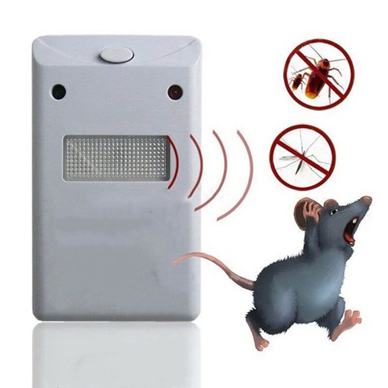 US EU Plug Ultrasonic Electronic Pest Control Rodent Rat Mouse Repeller Mice Repellent Anti Mosquito Flame Retardant ABS