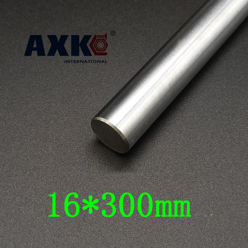 AXK 3D printer rod shaft WCS 16mm linear shaft 300mm chrome plated linear motion rail round rod shaft CNC parts SFC16 ausini model building kits compatible city train 426 3d blocks educational model