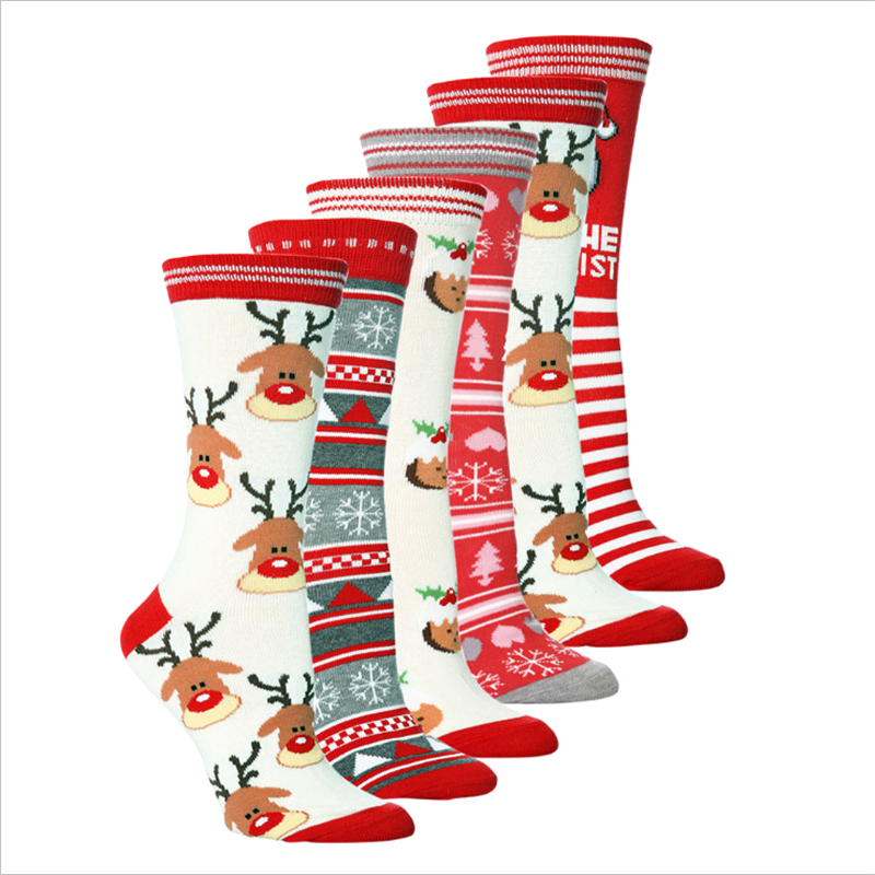New ladies socks Christmas gifts three-dimensional socks soft cotton cute Santa deer socks Christmas socks cute