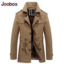 Joobox бренд 2017 длинный плащ мужчин толстые теплые осень шерсть лайнер пальто зимняя куртка Британский стиль мужские повседневные пальто(China (Mainland))