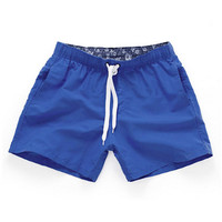 Royal blue-Men Beach Sport Swim Trunks Surf Swimwear Quick Drying Briefs