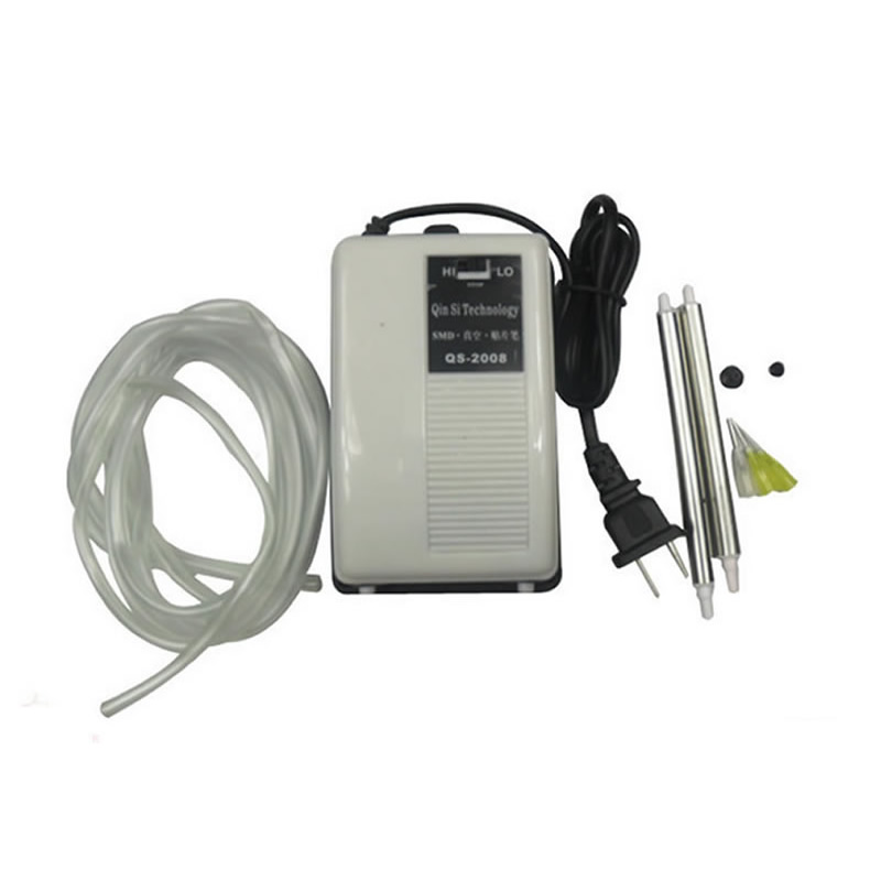 Vacuum Suction Pen QS-2008 For IC SMD Suction Pick Up for BGA Rework mini vacuum sucking pen ic smd sucker pick up hand 3 suction headers tools vacuum suction pen