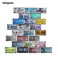 Hohappyme plaque d'immatriculation américaine USA Plaques signes numéro de voiture Garage décoration métal étain signe Vintage décor à la maison 15x30 cm