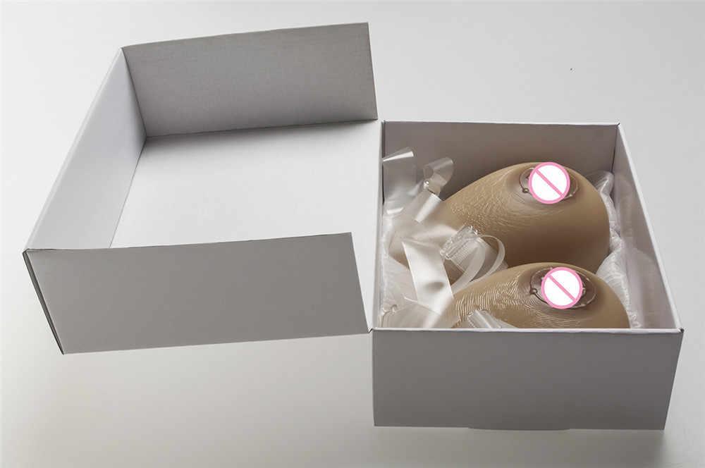 Sujetadores sexys de mujer Ultra suaves formas de pecho cruzado transgénero pechos falsos implantes sujetador de pecho de silicona no necesita adhesivos