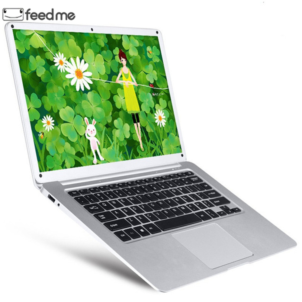 feed me 14.1 Inch Laptop Intel Atom X5 Z8350 Quad Core 2GB RAM 32GB ROM Windows 10 IPS Screen with HDMI Port WiFi Bluetooth 4.0-in Laptops from Computer & Office