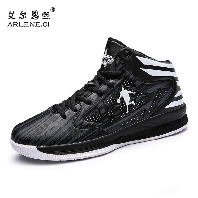 bas prix 401bf 88373 US $22.59 35% OFF|Hot Sale Men Women Basketball Shoes Jordan Shoes Anti  slip Basketball Sneakers Femme Sport Shoes Basket Homme Plus Size 39 45-in  ...