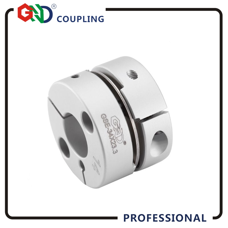 Coupling GND aluminum alloy CNC D28mm L21.5mm single diaphragm clamp for hollow encoder shaft coupling 3d printer motor connect shaft coupling machine coupling aluminium coupling cnc motor coupling