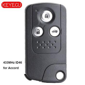 Keyecu الذكية عن بعد مفتاح فوب 3 زر FSK 433 Mhz ID46 استبدال لهوندا أكورد 2012-2015