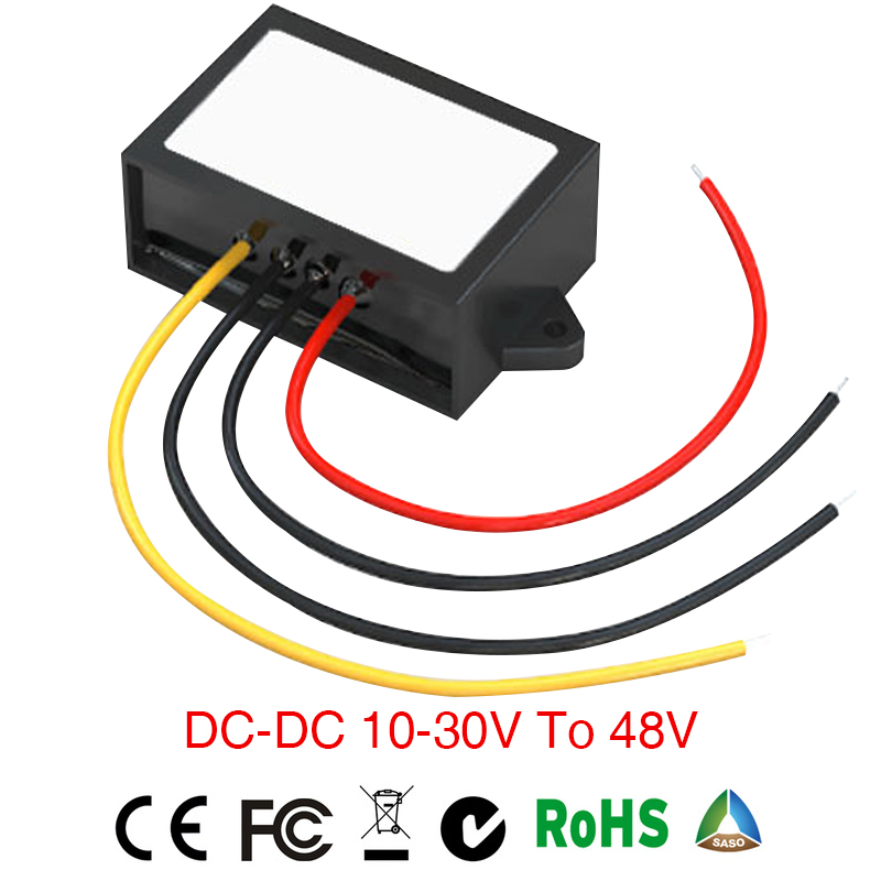 DC/DC Step-up Converter 10-30v to 48v 1A2A Waterproof Control Power Supply Car Module Low Heat Auto Protection inverter converte ac dc step down converter module for vehicle char module 24v to 12v 8a waterproof control car module low heat auto protection