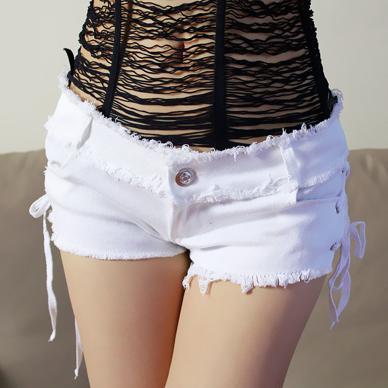 Sexy Women Jean Shorts Denim Shorts Women Short Jeans Summer Lace-up Low Waist Shorts For 2019 European And American Style