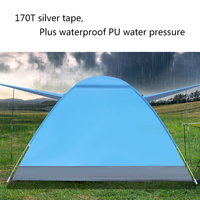 Portable Outdoor Beach Folding Tents Camping Water resistant Outdoor Anti UV Automatic Tent Instant Pop up open Tent Tourist Ten