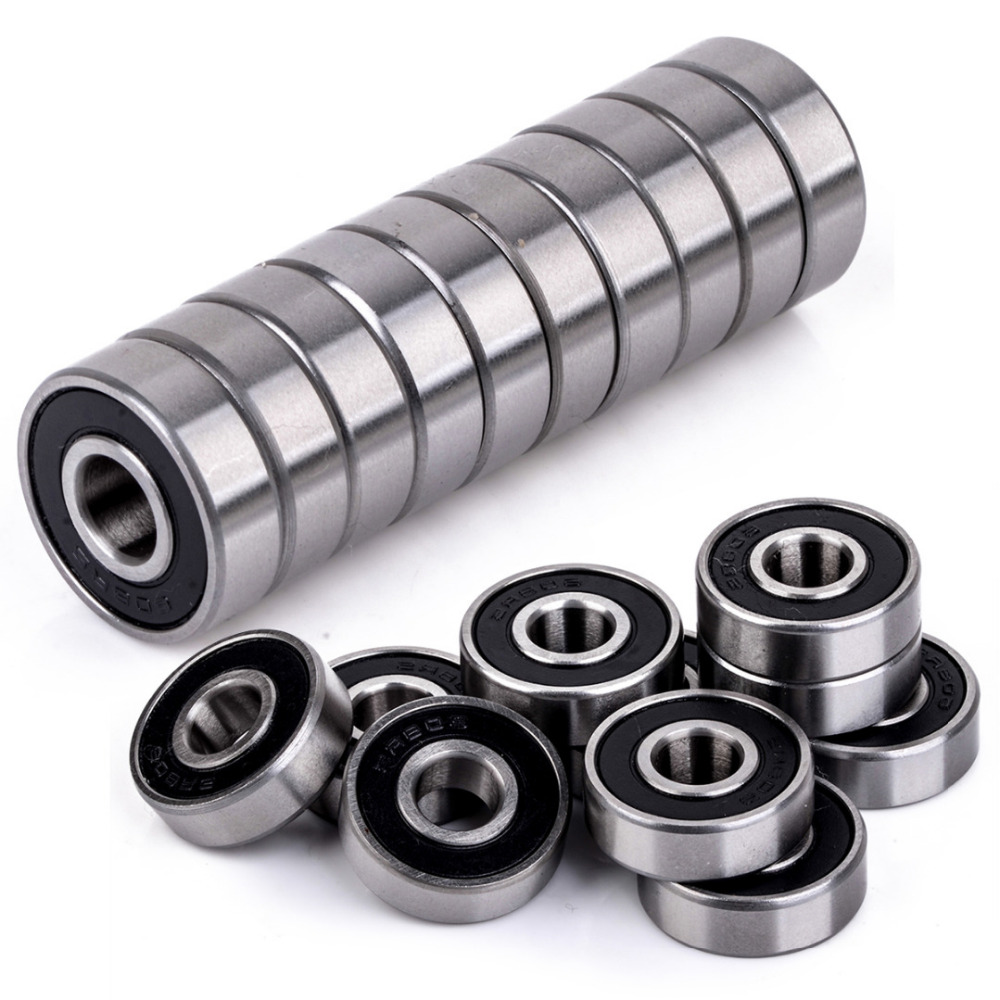 все цены на  10pcs/lot High Quality Rubber Sealed 608-2RS Miniature Ball Bearings Deep Groove 8x22x7mm  онлайн