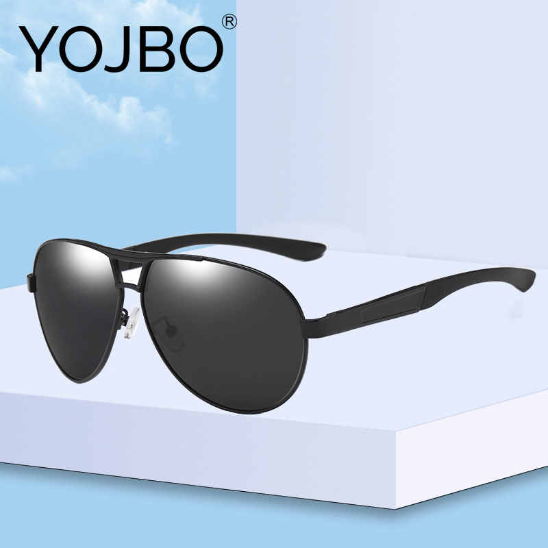 YOJBO Men Sunglasses Polarized UV400 Gafas De Sol Women Oversized Driving Sun Glasses for Men Brand Designer Black Eyewear