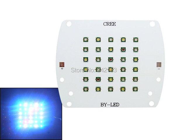 DC 24-28 В 100 Вт LED Cree XP-E Синий (14 шт.) + Белый (10 шт.) + зеленый (2 шт.) + Красный (3 шт.) + Теплый Белый (1 шт.) Coral Светодиодные лампы Для Коралловых
