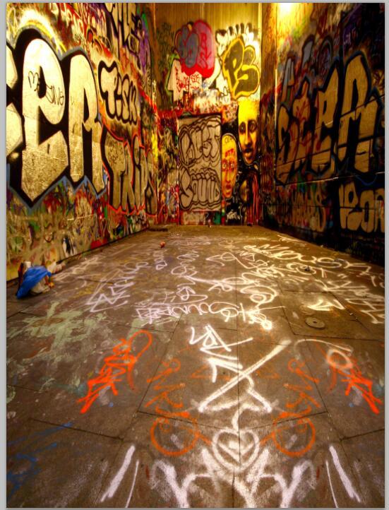 10ft vinyl print children 3D street graffiti wall ...