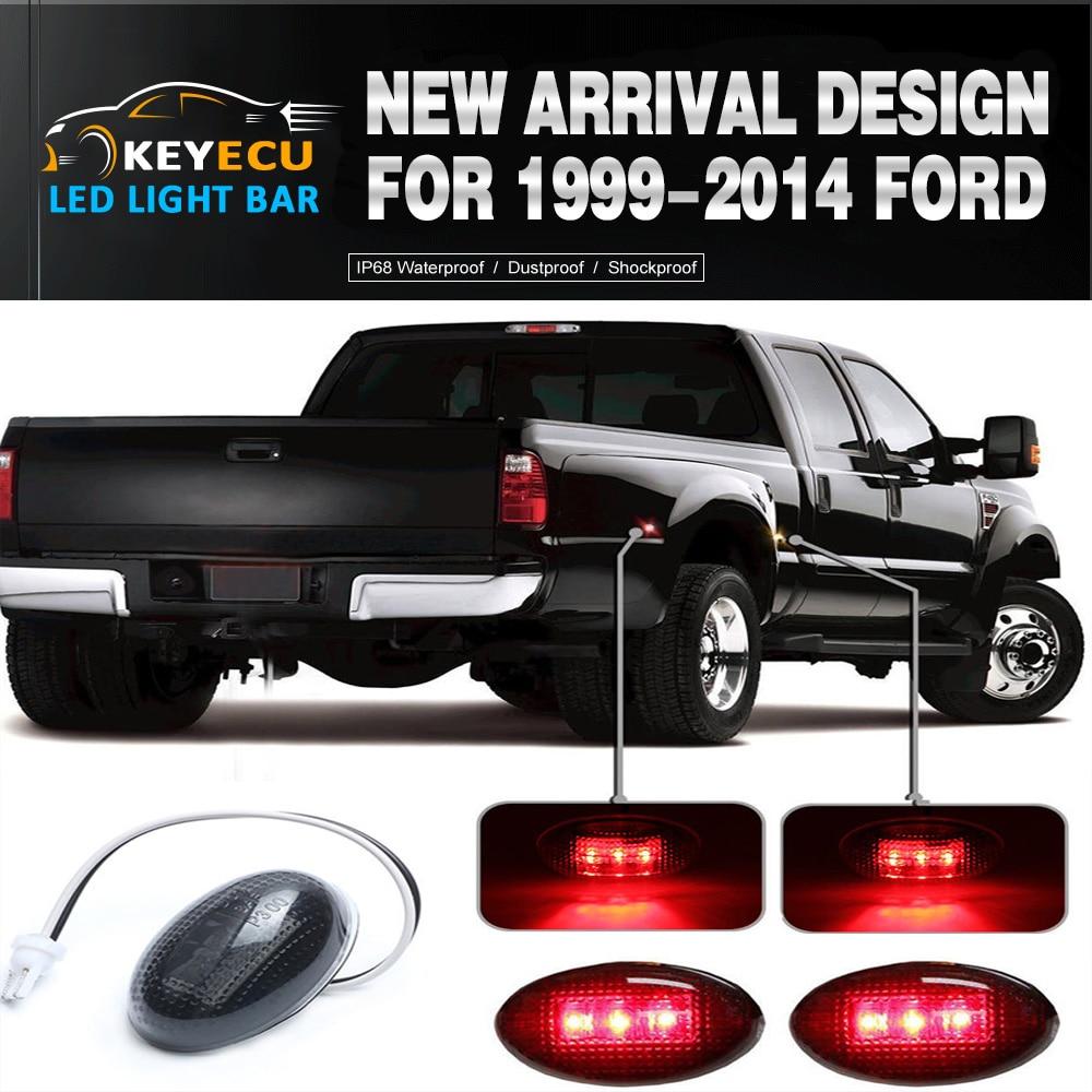 For 1999-2010 Ford F350 Led Side Fender Marker Lights Smoke 2 X Front 2 X Rear