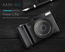 AMKR2 Videocámara de la Cámara RÉFLEX Digital Con Lente gran angular de $ number MEGAPÍXELES CMOS Max 24MP cámara digital de 3 pulgadas de Pantalla Giratoria