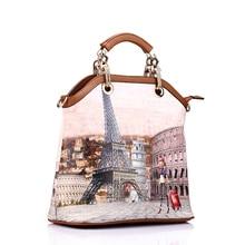 REALER women 3 pcs printed large tote handbag (7 colors)