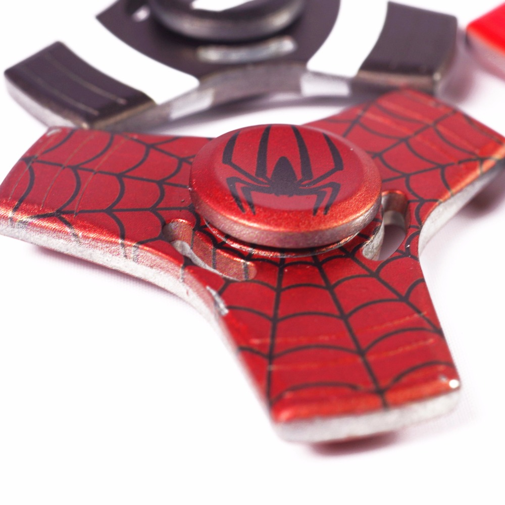 New 4 Colors Styles Captain America Spider Man Fidget Spinner Metal Alumunium Hand Ceramic Bearing For Autism And Adhd In From Toys