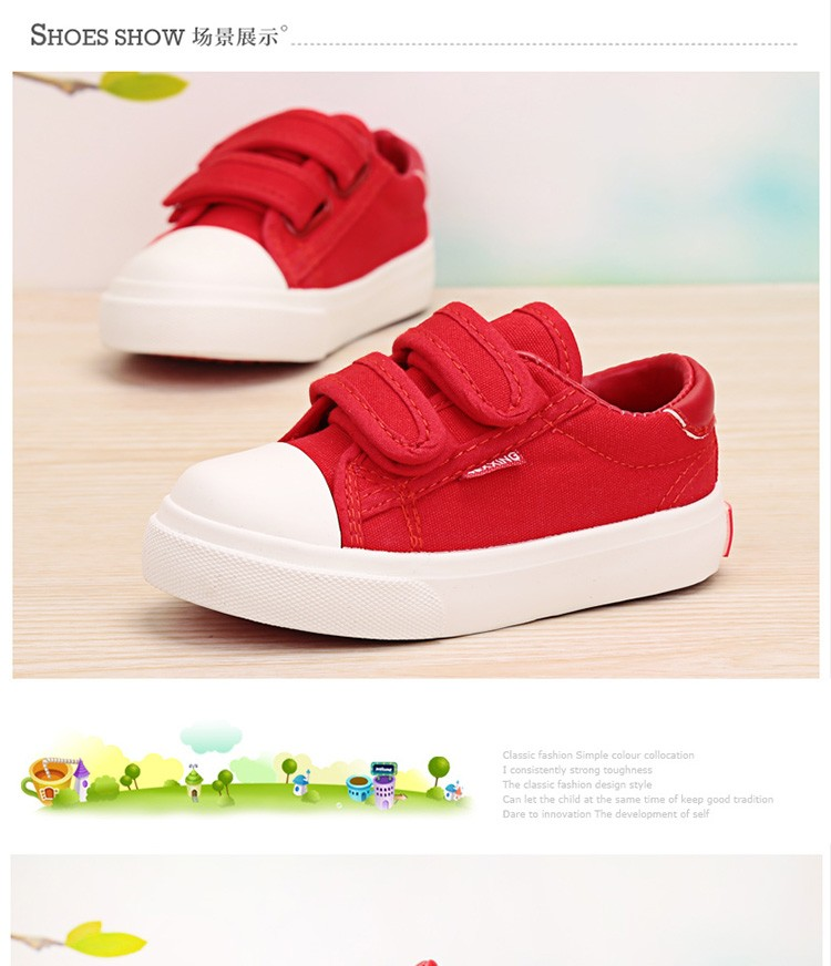 Beautiful Baby Girl and Boy White Canvas Shoes 6 Colors kids Casual Shoes Flat and Durable Toddler Little Girl Sneakers 12