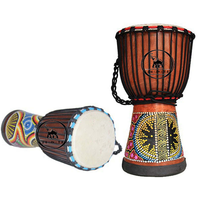 ФОТО African Style Hand Drum 8 inch Classic Painting Wooden Drummer Percussion