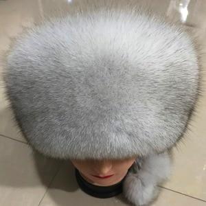 Image 4 - Fashion New Style Luxury Winter Russian Natural Real Fox Fur Hat 2020 Women Warm Good Quality 100% Genuine Real Fox Fur Cap