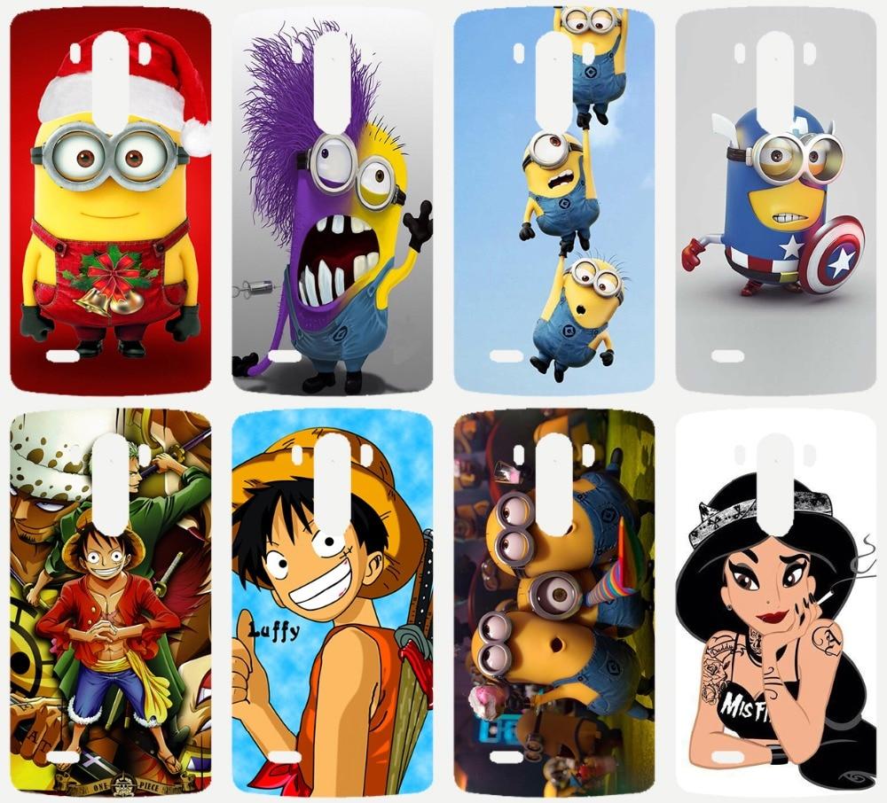 Лидер продаж Симпатичные Гадкий я Миньоны Обезьяна D Луффи красивая принцесса PC Окрашенные чехол для LG G3 мини телефон Чехол основа