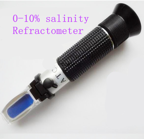 hand held Salinity Refractometer concentration 0-10% for Aquarium Salt Water Salinity tester with ATC  цены