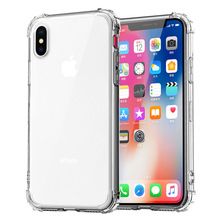 Phone Cases For iphone XS Max Luxury Transparent Silicone With airbag Back Cover XR TPU Mobile Case