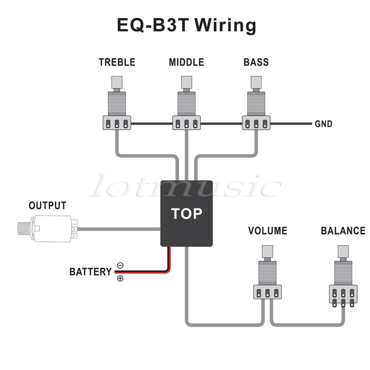 2Pcs 3 Band Active Guitar EQ Preamp Circuit Tone Volume Pots ... Les Paul Wiring Diagram Active Equalizer on
