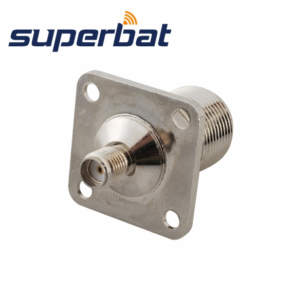 Superbat RF Coaxial Connector  SMA-N Adapter SMA Female Jack To N Jack Panel Mount Bulkhead Straight