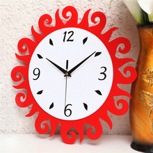 Home Decoration Accessories For Living Room Modern Design Flower Wall Clock Acrylic Quiet Quartz-watch Silent Wall Clock DDN193