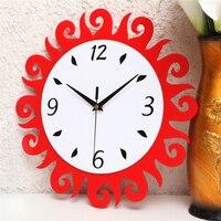 אביזרי קישוט הבית לסלון מודרני עיצוב פרח קוורץ-שעון שקט שעון קיר שקט שעון קיר אקריליק DDN193