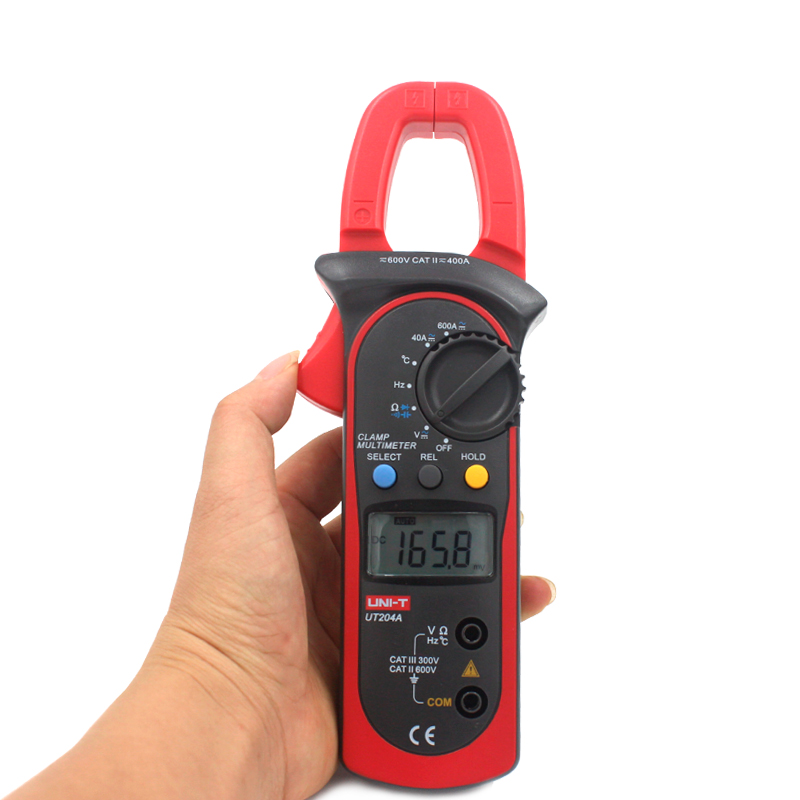 UNI-T UT204A Digital Clamp Meter Auto Power Off Temperature AC DC Current with Resistance, Capacitance, Frequency Multimeter цена