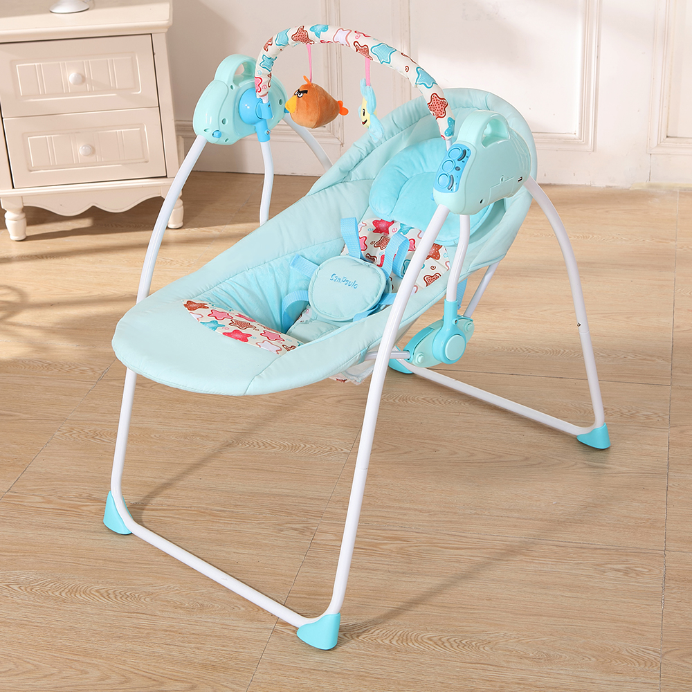 2018 New Electric Baby Cradle Swing Rocking Connect Mobile