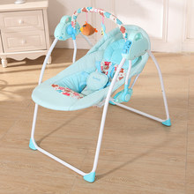 2018 NEW Electric Baby Cradle Swing Rocking Connect Mobile Play Music Chair Sleeping Basket Bed Crib For Newborn Infant For Baby(China)