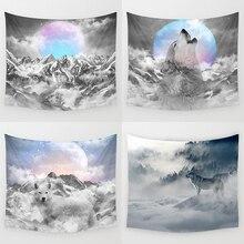 Современные украшения гобелены животные волк Слон Печать Психоделическое небо пляжное полотенце полиэстер настенный для спальни