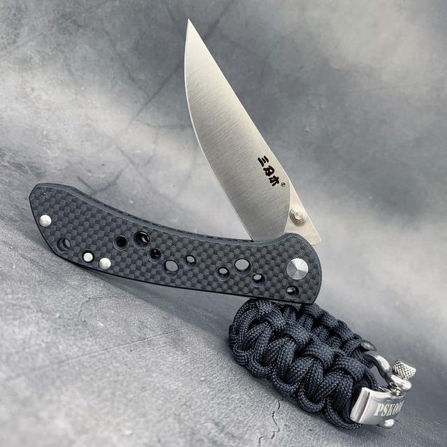 SanRenMu 9165 Pocket Folding Knife Fold 12C27 Steel Rescue Survival Tool Outdoor Camping EDC Mini Tactical  Huinting knife CS GO 1