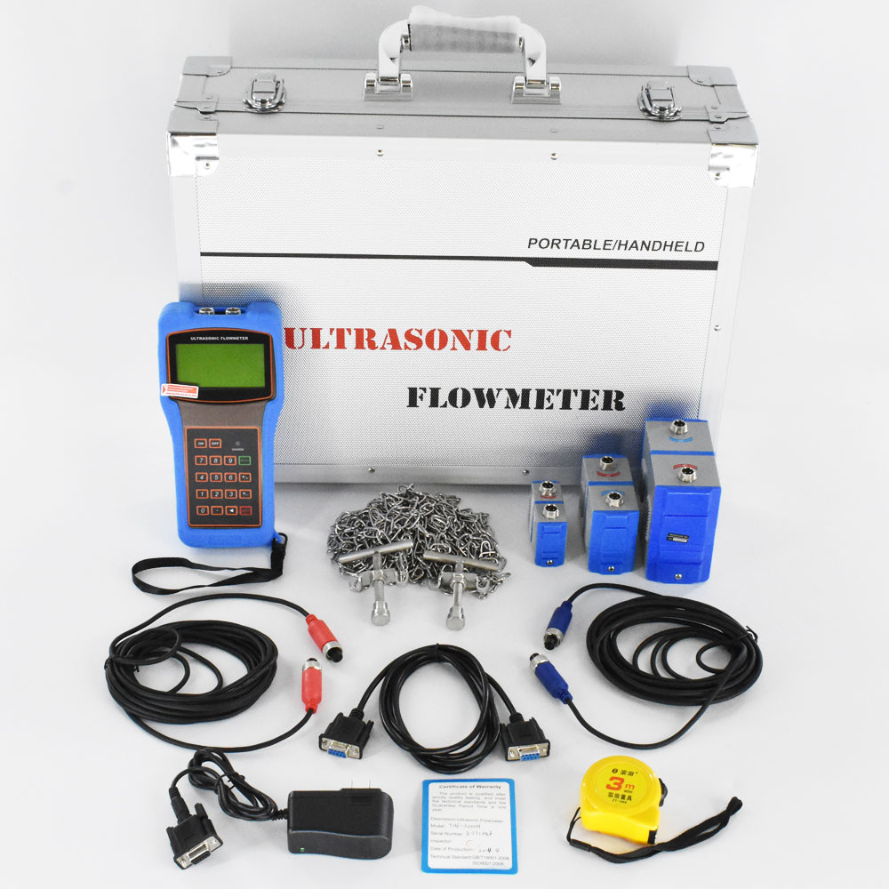 Digital Ultrasonic Flowmeter DN15 6000mm TUF 2000H TS 2 TM 1 TL 1 Transducer liquid flow