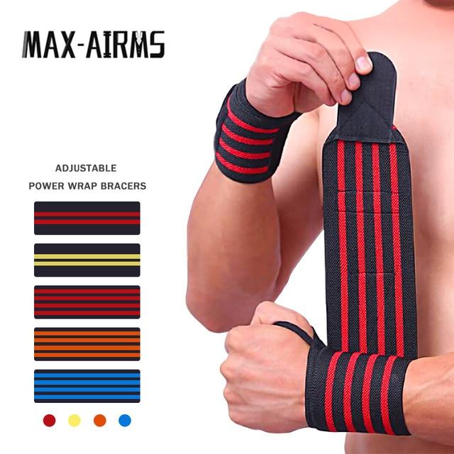 1PC Sports Gym Power Training Bracers Wrister Weightlifting Wrist Protector Pressure Cuff Wrist-band Wrap Wind Belt Men Women(China)