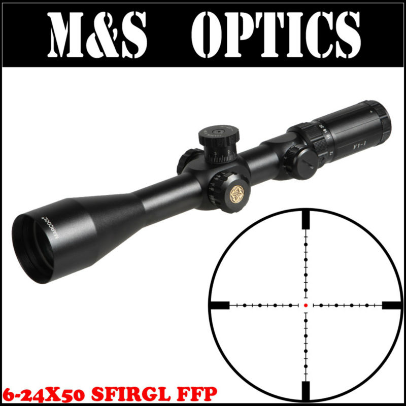 MarcooL EVV 6-24X50 SFIRGL FFP 7.62 Bullet Guns First Focus Plane Tactical Gun Optical Sight Rifle Scope For Hunting marcool 4 16x44 side focus front focal plane optical sights rifle scope hunting riflescopes for tactical gun scopes for adults