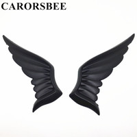 CARORSBEE 3D Metal Black Eagle Wing Angel Wings Car Sticker Auto Chrome Emblem Badge Decals Automobiles