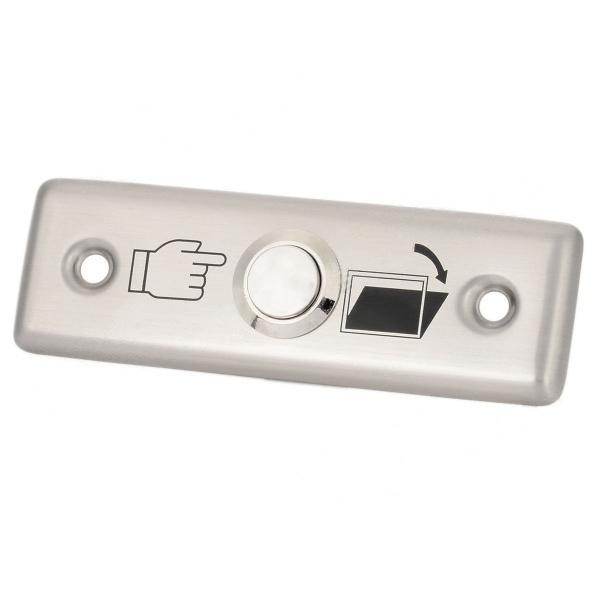 Stainless Steel 16mm Metal Waterproof Momentary Self-reset Doorbell Push Button Switch With Aluminium Alloy Door Release Panel metal push button switch with light 16mm flat head self reset momentary 5v 12v 24v 220v push button waterproof led metal switch