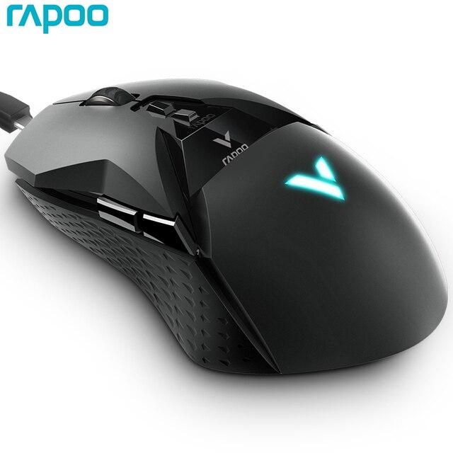 ماوس ألعاب Rapoo VT950 2.4G لاسلكي RGB شاشة OLED 11 أزرار قابلة للتخصيص 16000 ديسيبل متوحد الخواص لألعاب الكمبيوتر PUBG LOL FPS Dota 2